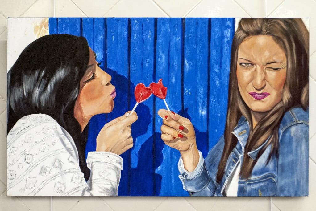 Pertenece a la colección #laquepintakisshunter, que retrata 19 besos distintos.