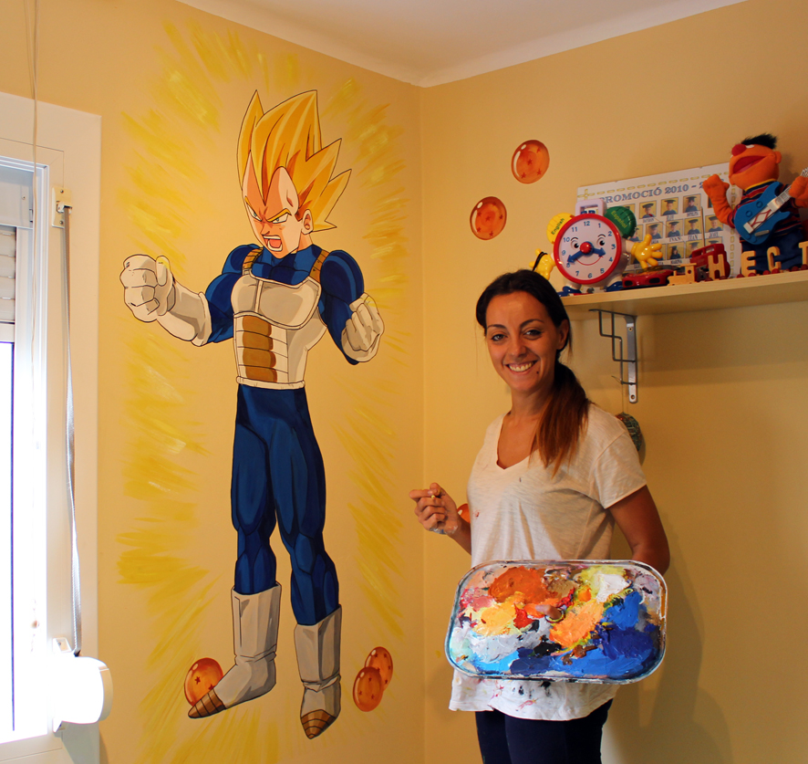 Mural infantil: Vegeta (Dragon Ball)