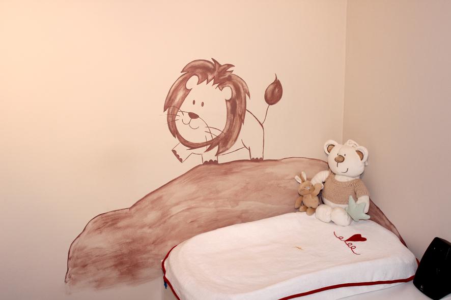 Mural infantil: Selva para Leo