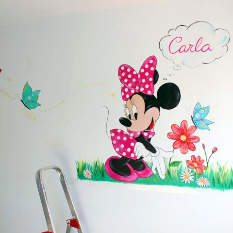 Mural infantil Minnie Mouse