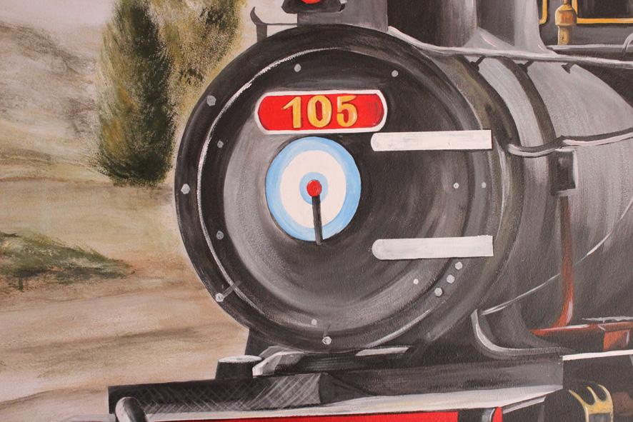 Mural decorativo tren