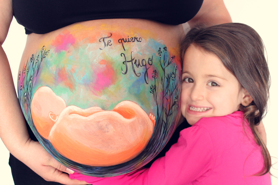 Belly painting de La que pinta en Barcelona.