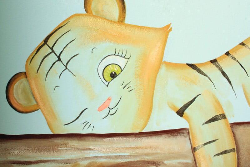 Murales infantiles pintados a mano por La que pinta en Barcelona.