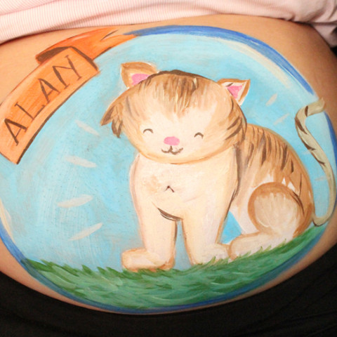 Belly painting de gatito