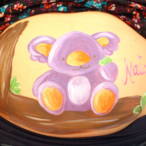 Belly painting Koala