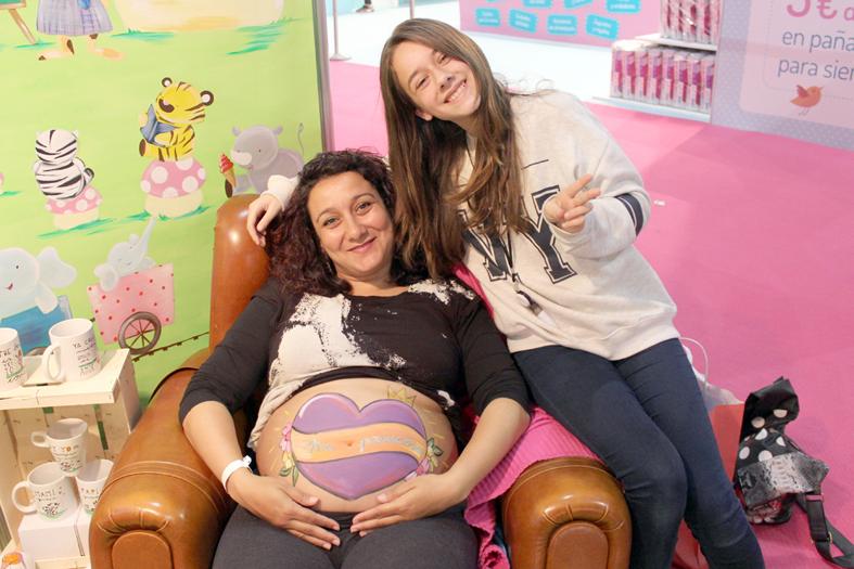Body painting para embarazadas de La que pinta en Barcelona