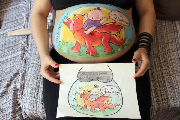 """Belly painting """"Juego de tronos"""""""