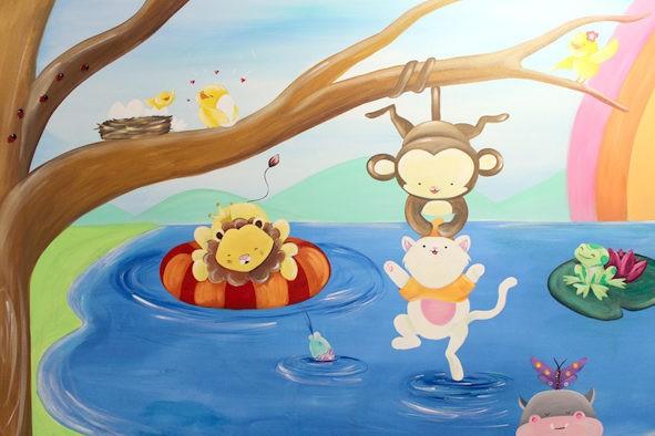 Murales infantiles 100% personalizados pintados a mano alzada en Barcelona por La que pinta