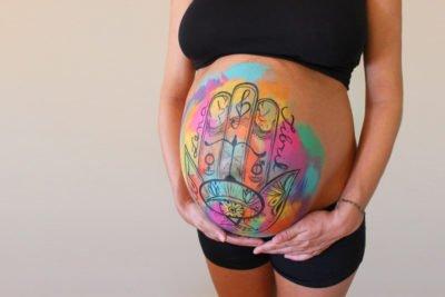 Belly painting Hamsa 100% personalizada