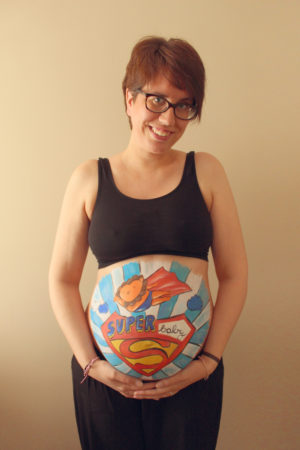 Belly painting super león