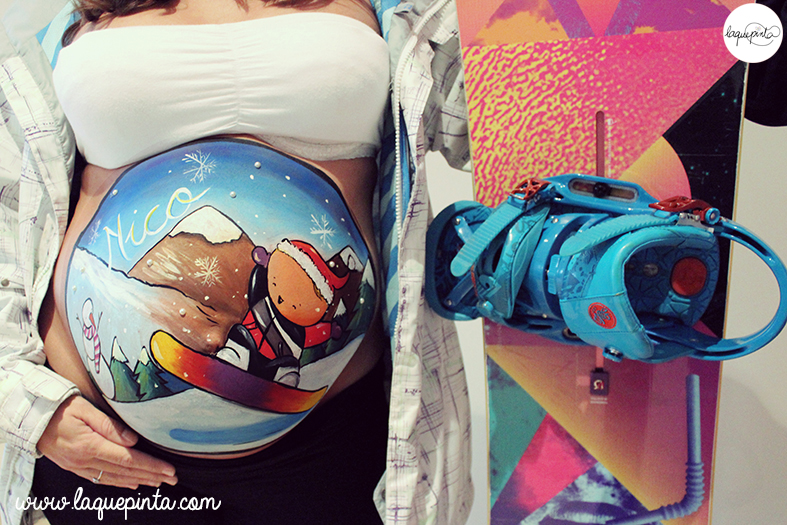 Belly painting snowboard