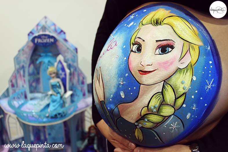 Belly painting Frozen