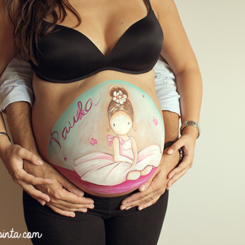Belly painting bailarina