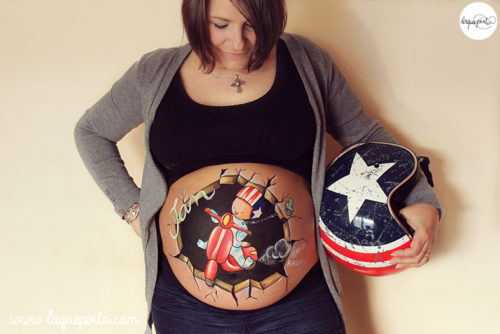 Belly painting Vespa