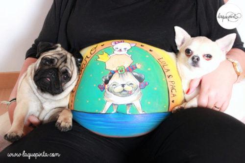 Belly painting con las princesas de la casa