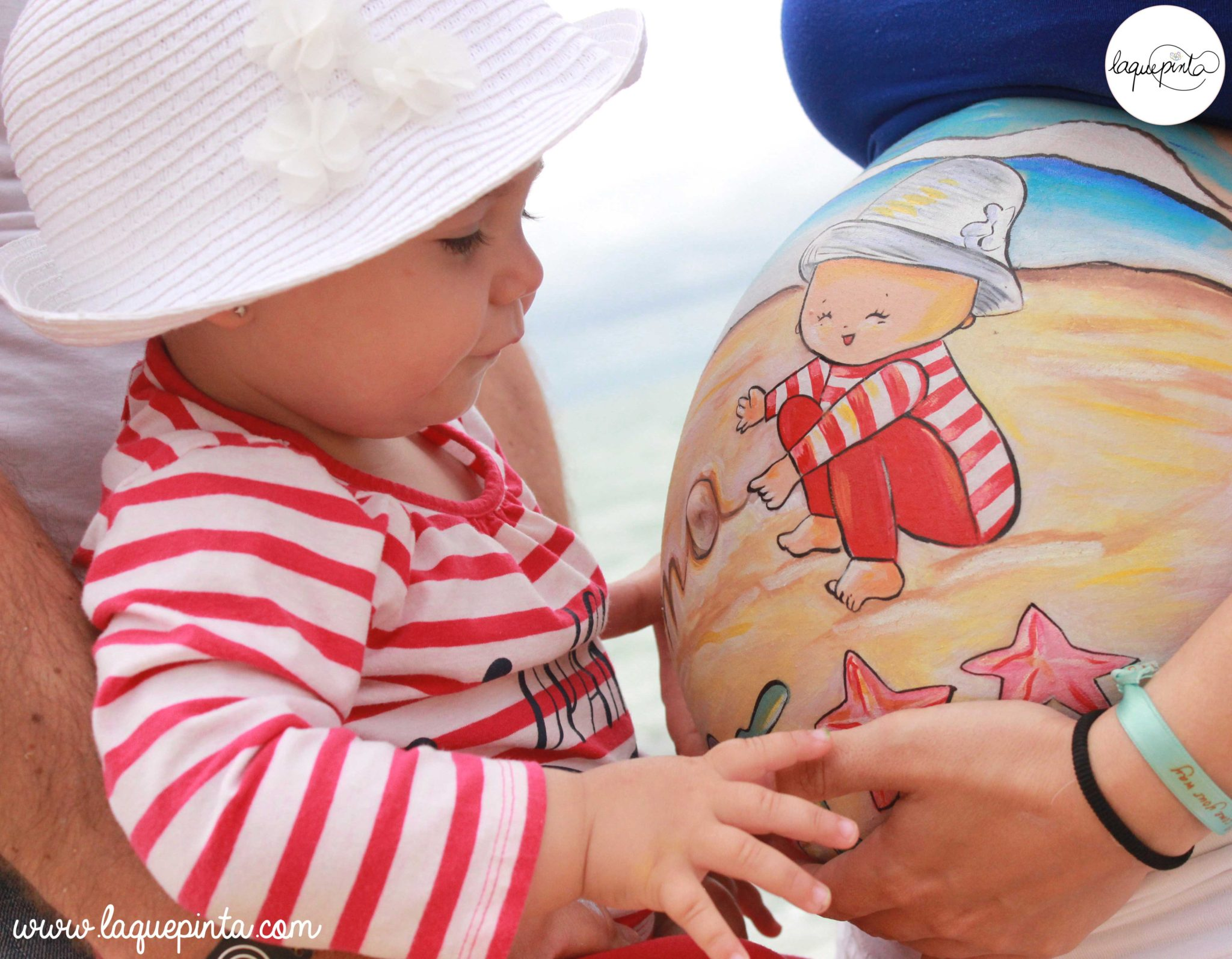 Belly painting playero con Roma y Alma