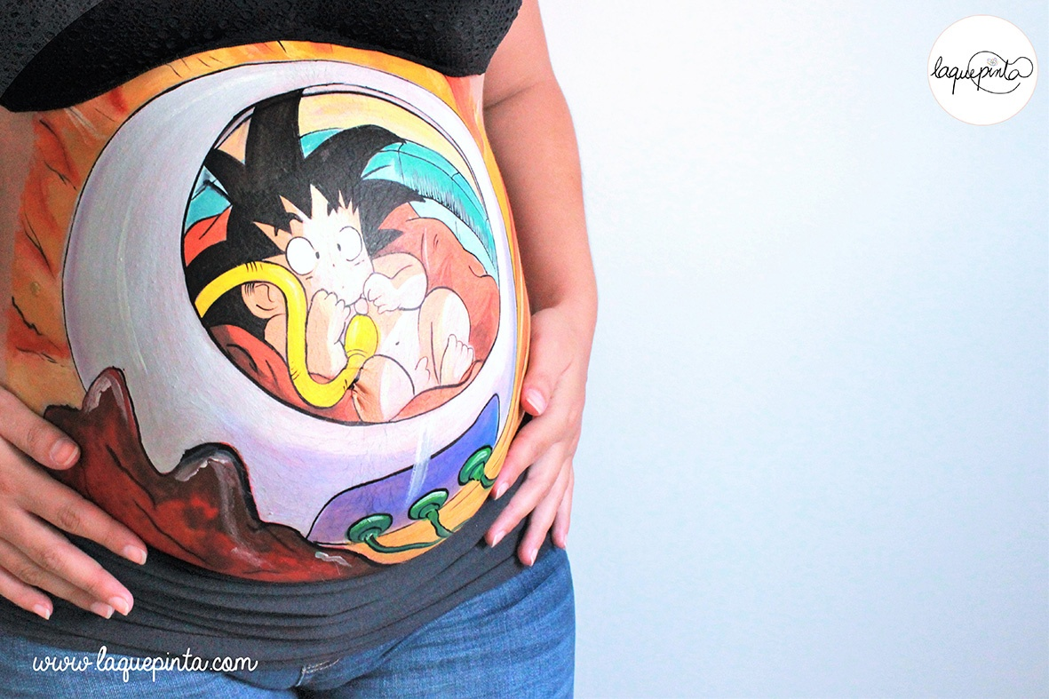 Belly painting Son Goku