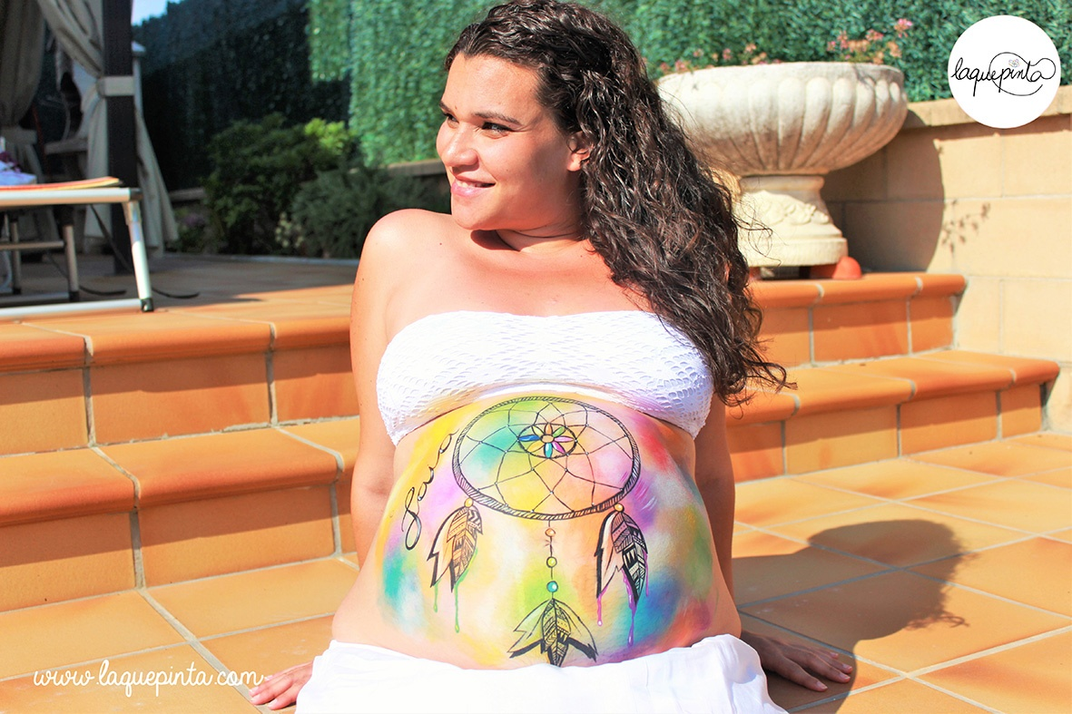 Belly painting atrapasueños