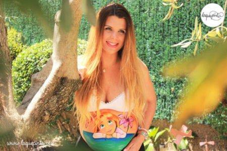 Belly painting bebé Rapunzel