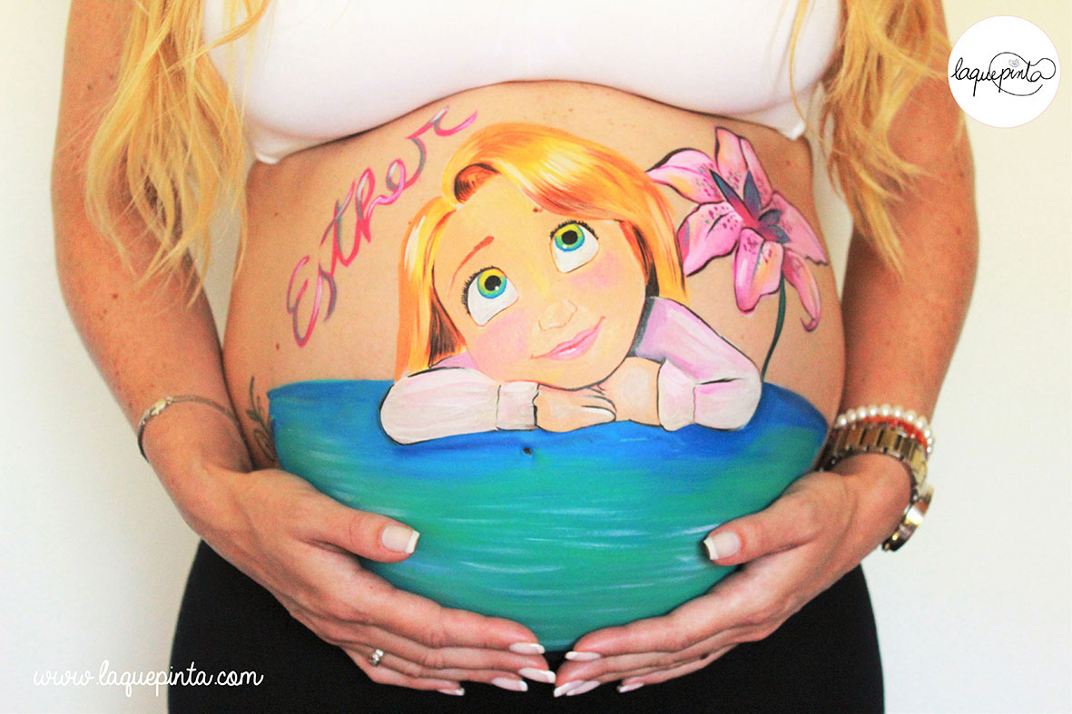 Belly painting bebé Rapunzel