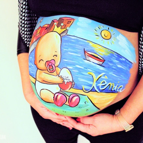 Belly painting bebé en Llançà