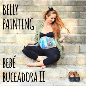 Belly painting a domicilio de La que pinta con dibujo 100% personalizado y sesión de fotos de recuerdo-