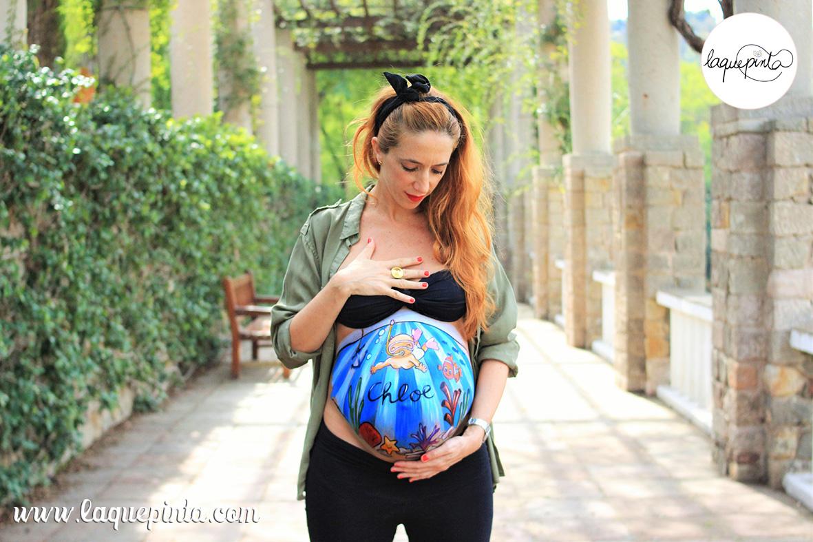 Belly painting bebé buceando II