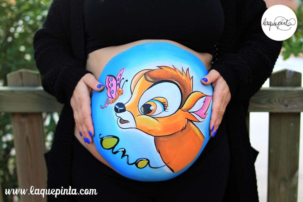 Belly painting con bambi