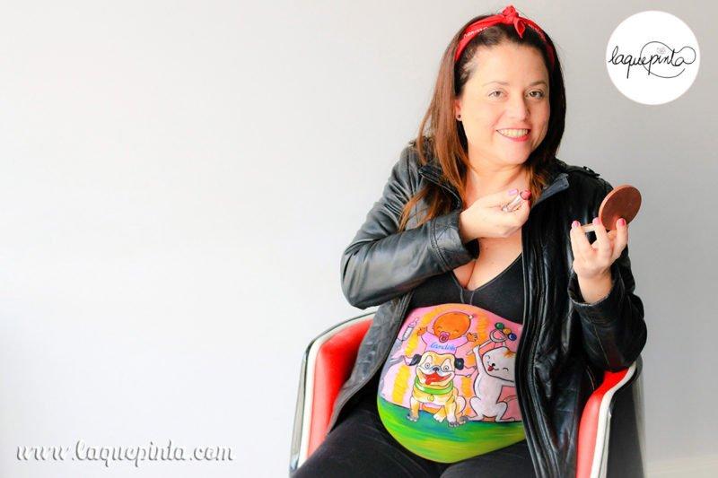 belly_painting_gatos_perro_la_que_pinta-251
