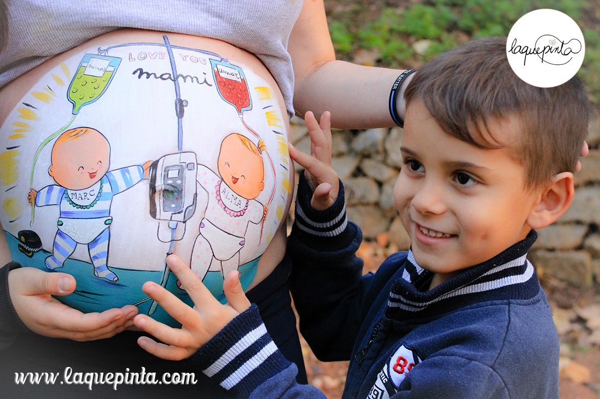Belly painting en el Hospital