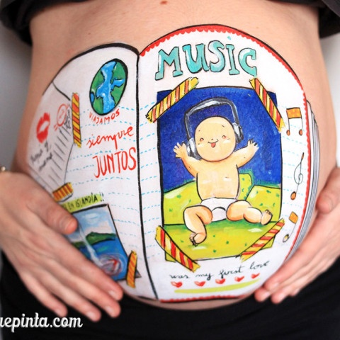 Belly painting scrapbooking