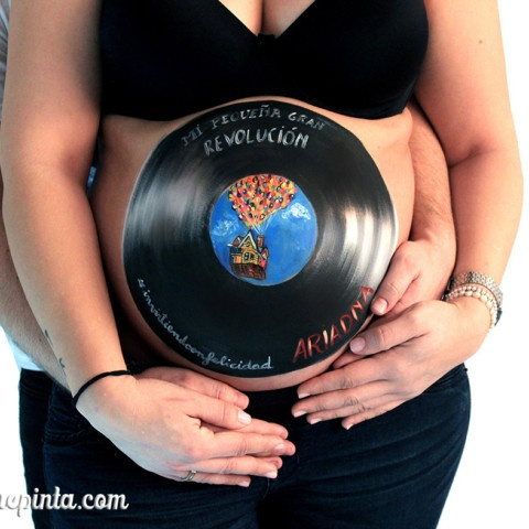 Belly painting vinilo + UP