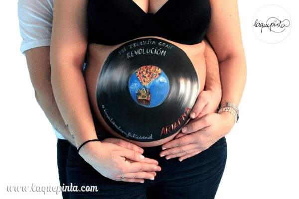 Belly painting vinilo UP Pixar