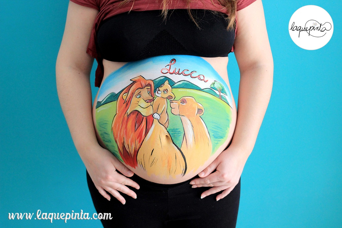 Belly painting el Rey León II