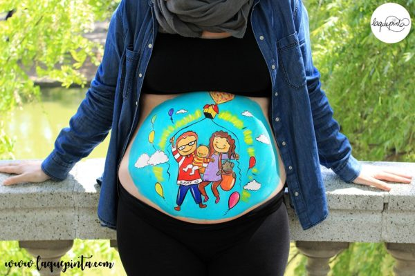 Belly painting familia UP