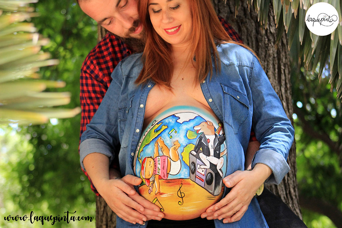 Belly painting bebé hip hop y su mascota