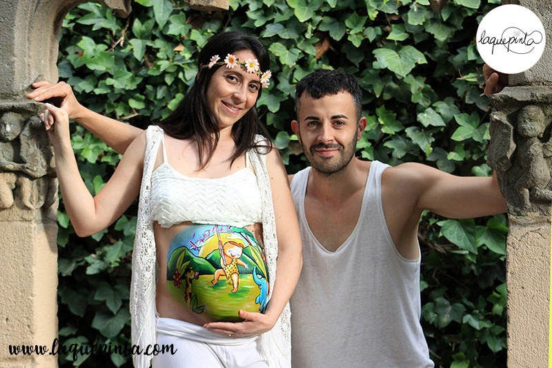 Belly painting bebé en la jungla