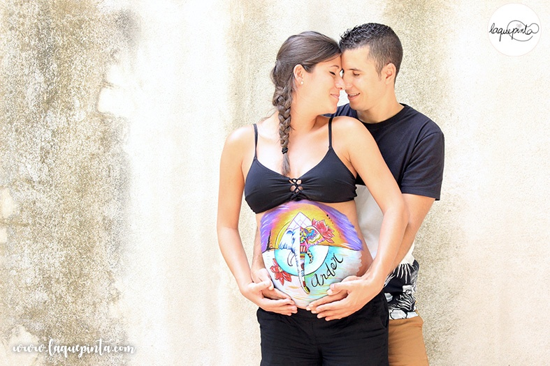 Belly painting Tailandia