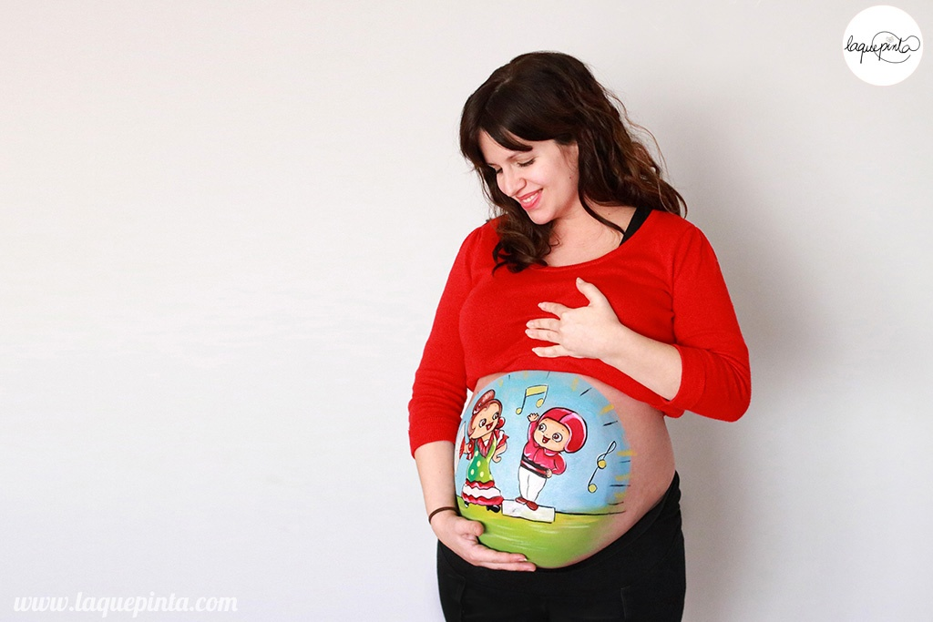 Belly painting de flamenca y casteller