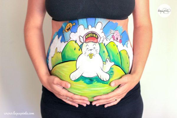Belly painting morsa tipo Arale
