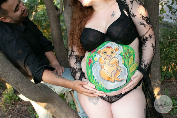 Belly painting Simba Tumbado