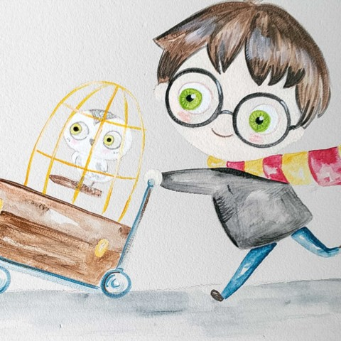 Mural infantil Harry Potter