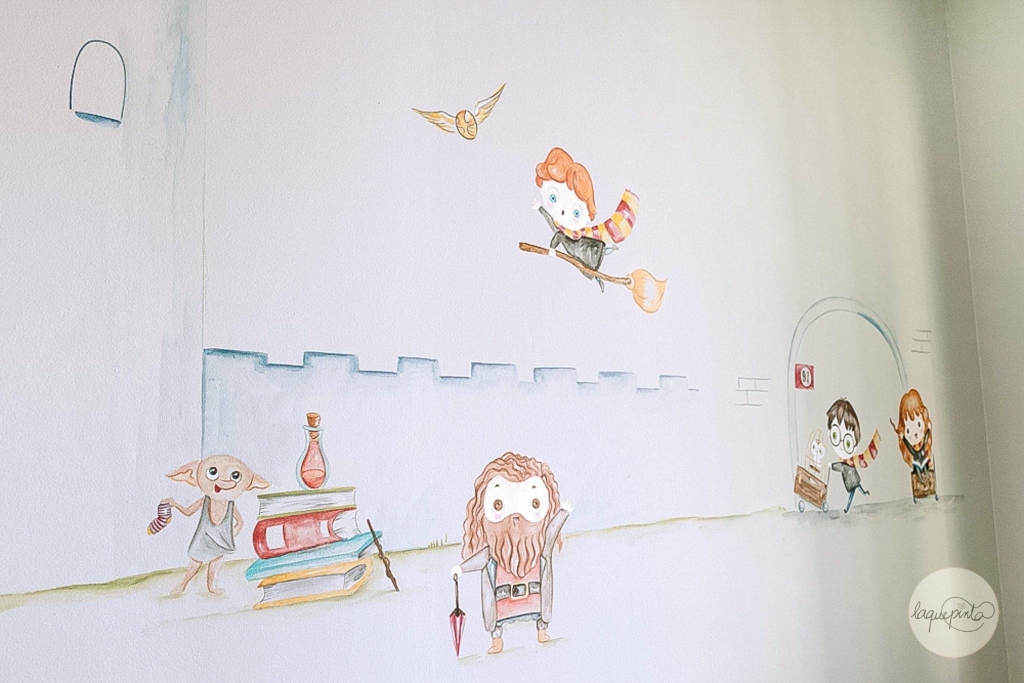 Mural infantil Harry Potter