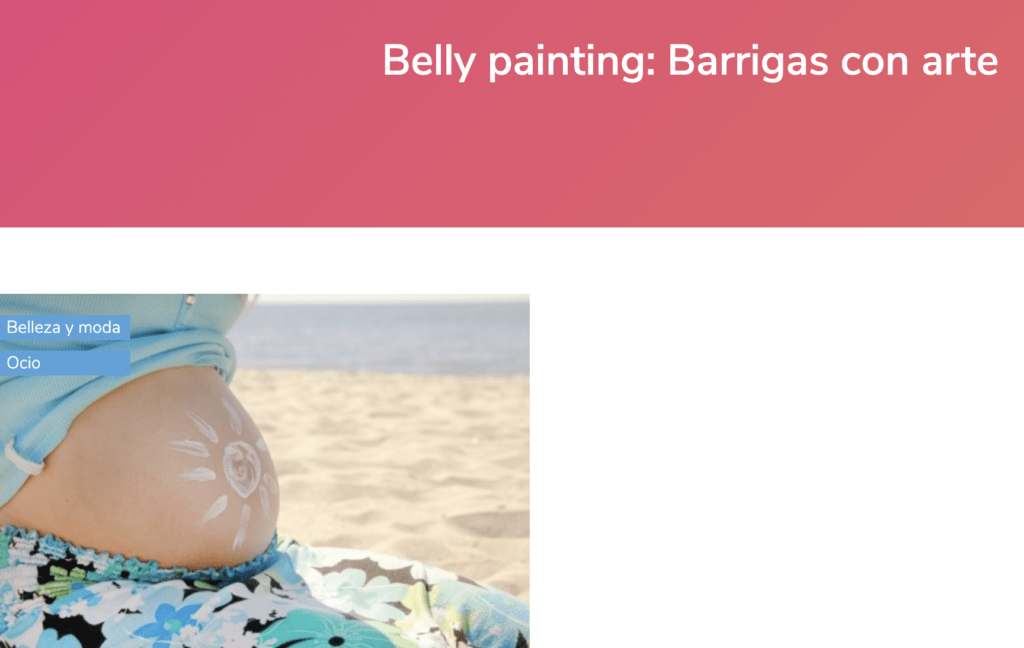 prensa Belly Painting Barriga Pintada Barcelona
