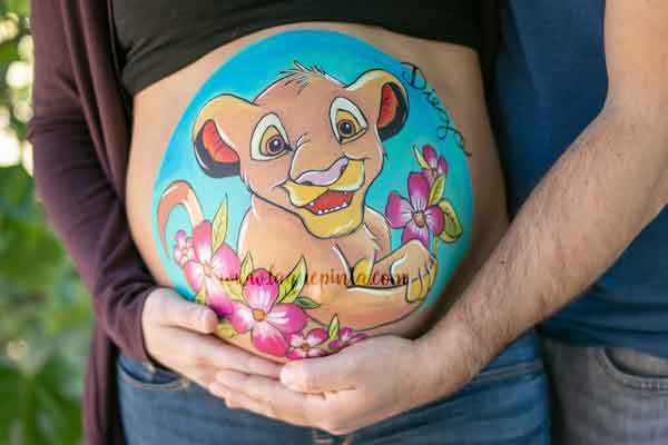 Simba Belly Painting Barriga Pintada Barcelona
