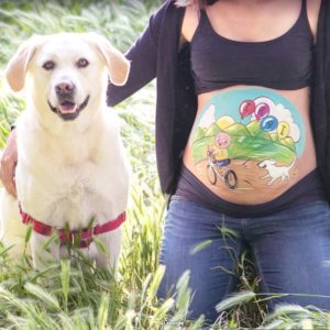 Mascota Belly Painting Barriga Pintada Barcelona