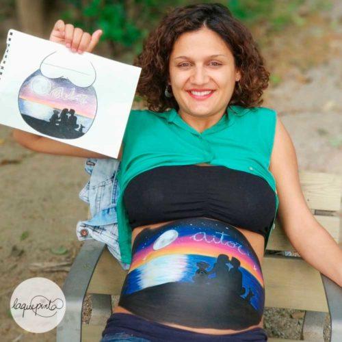 Anochecer Belly Painting Barriga Pintada Barcelona