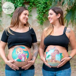 Sesiones especiales de belly painting