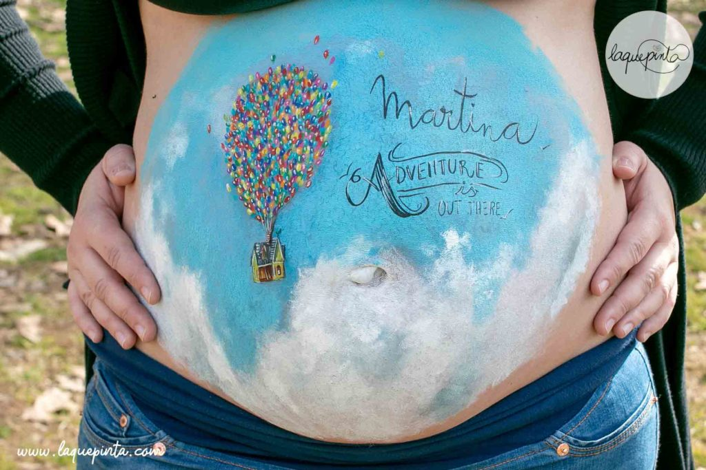 Globos Up Belly Painting Barriga Pintada Barcelona Belly painting 100% personalizado