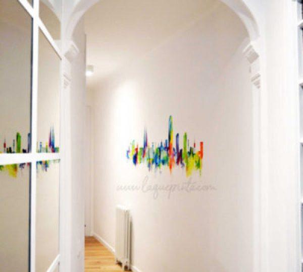 Pinturas mural a mano alzada para decoración de interiores de La que pinta en Barcelona con diseños personalizados